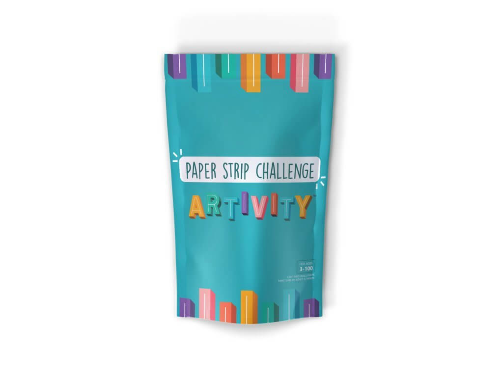 Image of the Paper Strip Challenge Artivity bag.